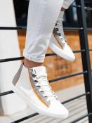 Ombre Clothing Pánské kotníkové tenisky Haney bílá