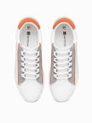 Ombre Clothing Pánské kotníkové tenisky Reyes bílo-oranžová