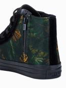 Ombre Clothing Pánské kotníkové boty Oli khaki/navy