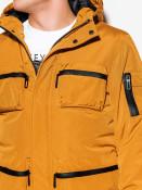 Ombre Clothing Pánská zimní prošívaná bunda Bohater hořčicová