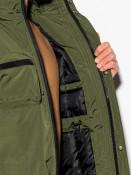 Ombre Clothing Pánská zimní prošívaná bunda Bohater khaki
