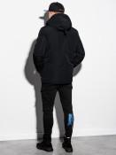 Ombre Clothing Pánská zimní prošívaná bunda Bohater černá