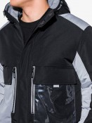 Ombre Clothing Pánská zimní bunda Boumel černá