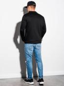 Ombre Clothing Pánská mikina na zip Matteo černá