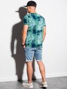 Ombre Clothing Pánské tričko s potiskem Tiburtius zelená