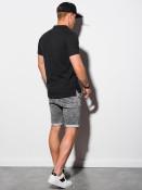 Ombre Clothing Pánské basic polo tričko Douglas černá