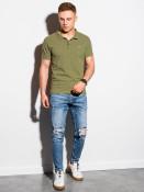 Ombre Clothing Pánské basic polo tričko Douglas olivová