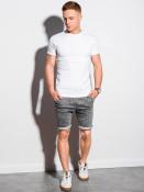 Ombre Clothing Pánské basic tričko Elis bílá