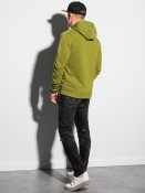 Ombre Clothing Pánská mikina s kapucí Engel olivová