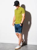 Ombre Clothing Pánské basic polo tričko Douglas zelená
