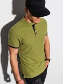 Ombre Clothing Pánské basic polo tričko Rosa olivová