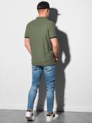 Ombre Clothing Pánské basic polo tričko Aron olivová
