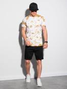 Ombre Clothing Pánské basic tričko Fredrik bílo-béžová