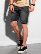 Ombre Clothing Pánské riflové kraťasy Tore černá