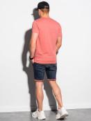 Ombre Clothing Pánské basic tričko Oliver korálová