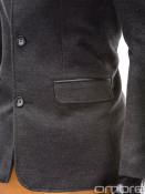 Ombre Clothing Pánský kabát Augustino tmavě šedý