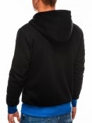 Ombre Clothing Pánská mikina na zip s kapucí Chandler černá