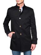 Pánský podzimní kabát k obleku Eliot černý S