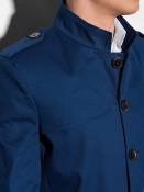 Ombre Clothing Pánský kabát Eliot navy