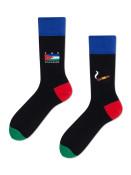 Veselé vzorované ponožky San Escobar černé vel. 39-42