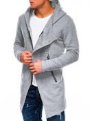 Ombre Clothing Pánská mikina na zip s kapucí Hugo šedá