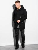 Ombre Clothing Pánská mikina na zip s kapucí Hugo černá