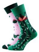 Veselé vzorované ponožky Summer Cactus zelené vel. 35-38