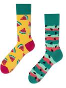 Veselé vzorované ponožky Watermelon Splash zelené vel. 35-38