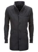 Pánský elegantní zimní šedý kabát se stojáčkem Victor S