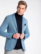 Ombre Clothing Pánský ležerní blejzr Liam světle modrý