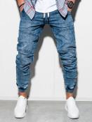 Ombre Clothing Pánské jogger kalhoty Edison modré
