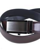 Zapana Pánský kožený opasek s automatickou přezkou Focus tmavě hnědý