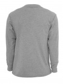 Mens Henley Long T-shirt Cuerpo Grey S