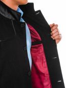 Ombre Clothing Pánský kabát Augustino černý
