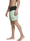 Urban Classics Pánské kraťasové plavky Block černo-zelené