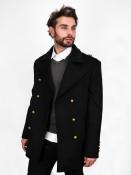 Zapana Pánský kabát Emile černý