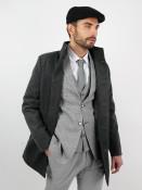 Ombre Clothing Pánský kabát Victor tmavě šedý