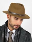 WITLEATHER Pánský klobouk Patric hnědý