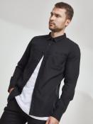 Urban Classics Pánská flanelová košile Ejorn černá