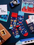 Many Mornings Pánské ponožky Traveler tmavě modré