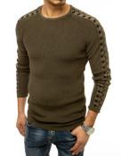 Dstreet Pánský svetr přes hlavu Magdal khaki