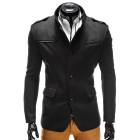Elegantní pánský černý kabát Augustino s vysokým límcem S