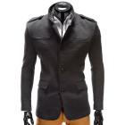Elegantní pánský šedý kabát Augustino s vysokým límcem S