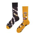 Veselé barevné vzorované ponožky Camera multicolor vel. 35-38