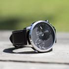 Pánské hodinky s velkým ciferníkem Lamb černé