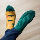 Many Mornings Veselé barevné vzorované ponožky Scout Memory