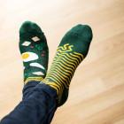 Many Mornings Veselé barevné vzorované ponožky Ramen Noodles