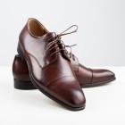 Duo Men Pánské společenské boty Vincenzo tmavě hnědé