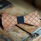 The Bow Bow Ties Pánský dřevěný motýlek Cage černá