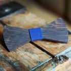 The Bow Bow Ties Pánský dřevěný motýlek Dark modrá